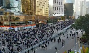 Tens of thousands attend Hong Kong pro-democracy protest
