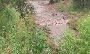 Flash Flood Fills Creek