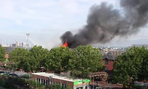 Smoke billows from Walthamstow shopping centre fire