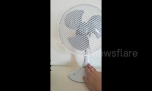 This BLOWS! Fan stops working as Europe hit with heatwave