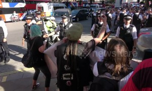 Protests against Boris Johnson become heated in Central London