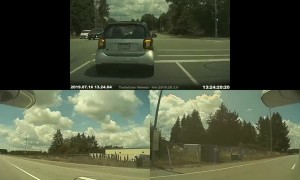 Impatient Driver Captured from All Angles