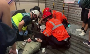 Injuries and arrests as Hong Kong protesters battle with police