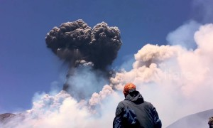 Italy's Mount Etna lets out huge clouds of smoke after violent eruption
