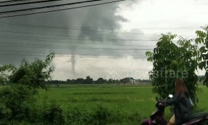 Tornado rips through homes and a school in the Philippines