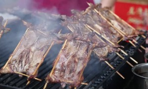 People enjoy roasted rats served in special barbecue shop in southern China