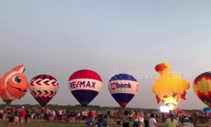 Lit! Hot air balloon show delights Wisconsin audience as they glow to music