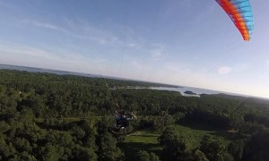 Paramotorist's Wing Collapses Causing Crash