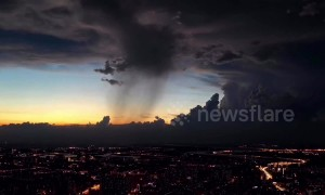 Spectacular time-lapse of thick storm clouds above Chinese city