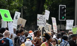 Hundreds march for slavery reparations in London
