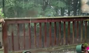 Hail Storm Smashes Decking