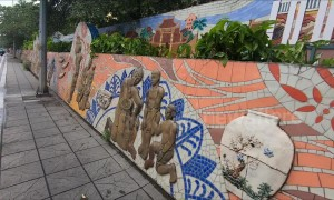 The longest ceramic mosaic mural in the world is in Vietnam, and it's stunning