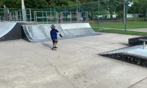 Superstar kid nails a 360 flip
