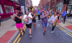 This riotous brass band totally stole the show at Leeds Pride parade