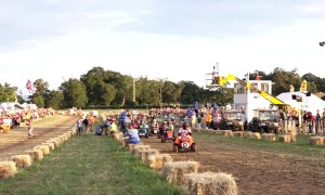 'Ready, steady, mow!' Bizarre 12-hour lawn mower race held in English country village