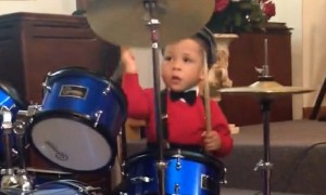2-year-old drummer has skill beyond his years
