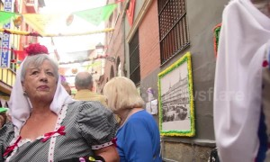 San Cayetano celebrations on the streets of Madrid