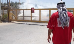 Israeli troops fire tear gas at small group of protesters outside Ofer prison