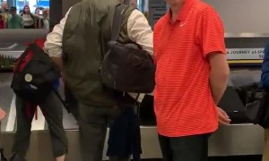 Surprising His Sibling at the Airport