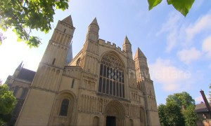 Birdies and cardinals! Ancient English cathedral now features mini-golf