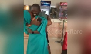 Mother in Nigeria has priceless, heartwarming eruption of joy seeing son after 5 years