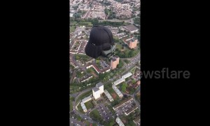Hot air Darth Vader takes to Bristol skies as part of balloon fiesta
