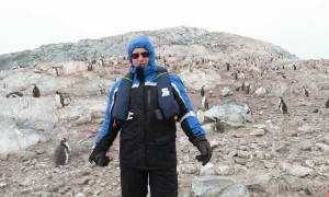 Penguins in Antarctica react to nearby opera singer