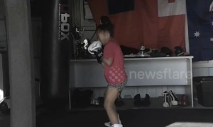 Australian 7 year old girl is powerful pint-sized pugilist