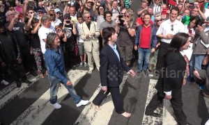 Traffic chaos as fans mark 50th anniversary of Beatles' Abbey Road