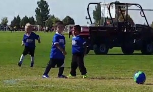 Silly Soccer Stretcher