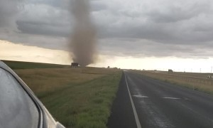 Mother and Son Witness Tornado Touching Down