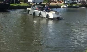 Boat Bounces Around Canal