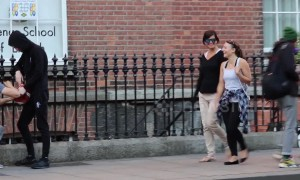 Two prankster in Ireland fools onlookers with pumping ball trick that looks positively filthy