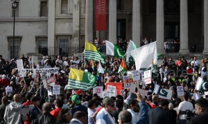 Stand with Kashmir protesters in London compare India to a 'Nazi state'