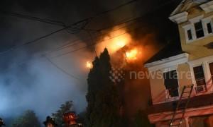 Firefighters tackle house blaze in Shamokin, Pa