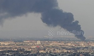 Smoke billows from warehouse fire in Mexican city