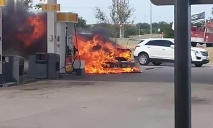 Firefighters Fix Fiery Gas Station Situation