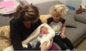 Girl's Reaction To Meeting Baby Brother Is Absolutely Adorable