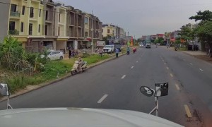 Child Rides into Middle of Busy Road