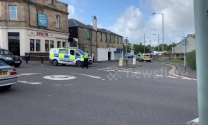 Armed police in Scotland surround man armed with a knife at a Falkirk train station