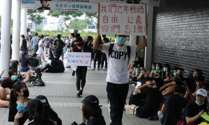 Now Hong Kong schoolkids rally in support of anti-extradition bill protesters