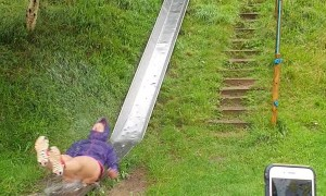 Rain Makes Steel Slide Extra Slippery