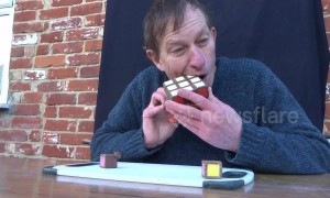 UK man creates and solves Rubik's Cube made out of chocolate
