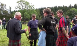 Kilted Prince Charles makes surprise visit to Highland Games