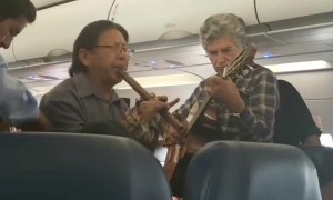 Bolivian Band Ease Airplane Delay Tension