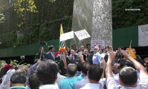 Scores join Kashmir protest outside UN in New York
