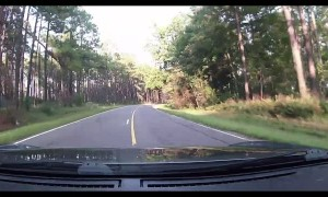Dashcam Captures Car Forced into Ditch