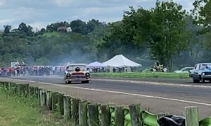 Drag Race Ends in Dangerous Roll Over
