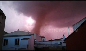 Tornado rips through Malaga, Spain