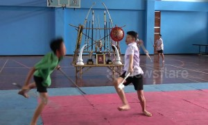 Pupils learn ancient sword fighting martial art in their PE lessons at Thai school